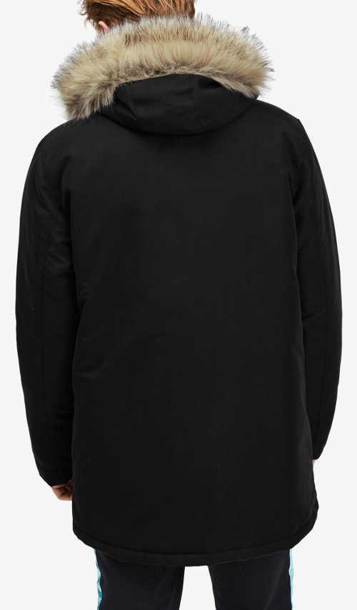 Prodloužená černá pánská zimní bunda Puma