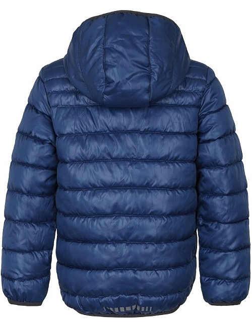 prošívaná modrá zimní bunda pro děti