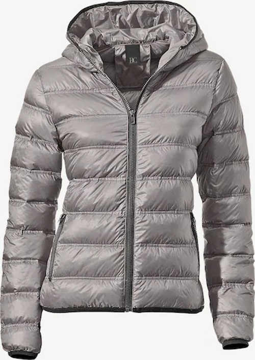 Šedá péřová dámská zimní bunda About you