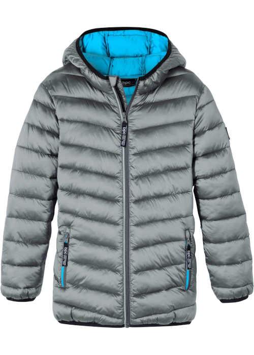 Chlapecká stříbrnošedá prošívaná zimní outdoorová bunda