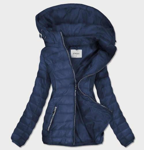 Dámská delší prošívaná bunda s odnímatelnou kapucí