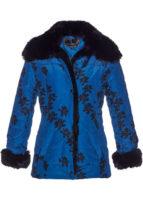 Dámská prošívaná zimní bunda s květovaným vzorem