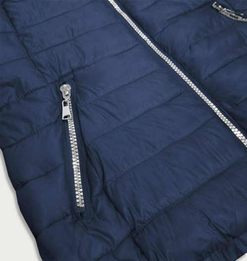 dámská tmavě modrá zimní bunda