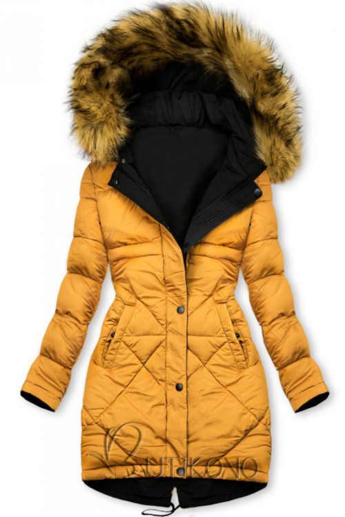 dámská zimní bunda v prodloužené délce