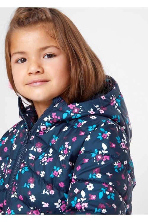 dívčí stylová zimní bunda s integrovanou kapucí