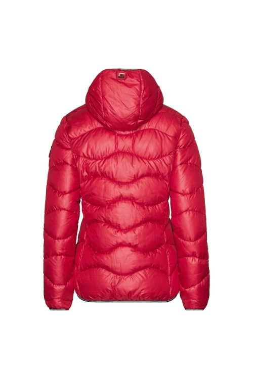 krátká prošívaná bunda s pevnou kapucí
