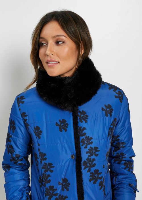moderní bunda s květinovým potiskem