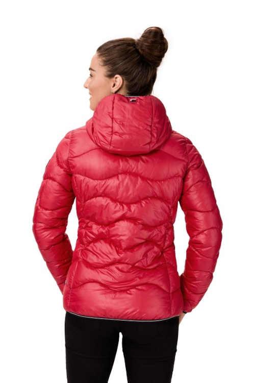 moderní prošívaná dámská bunda s kapucí