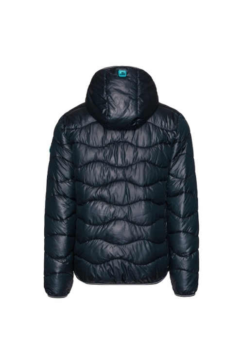 modrá prošívaná pánská krátká bunda