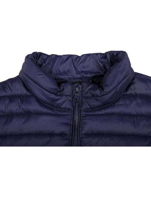 pánská zimní bunda modrá prošívaná