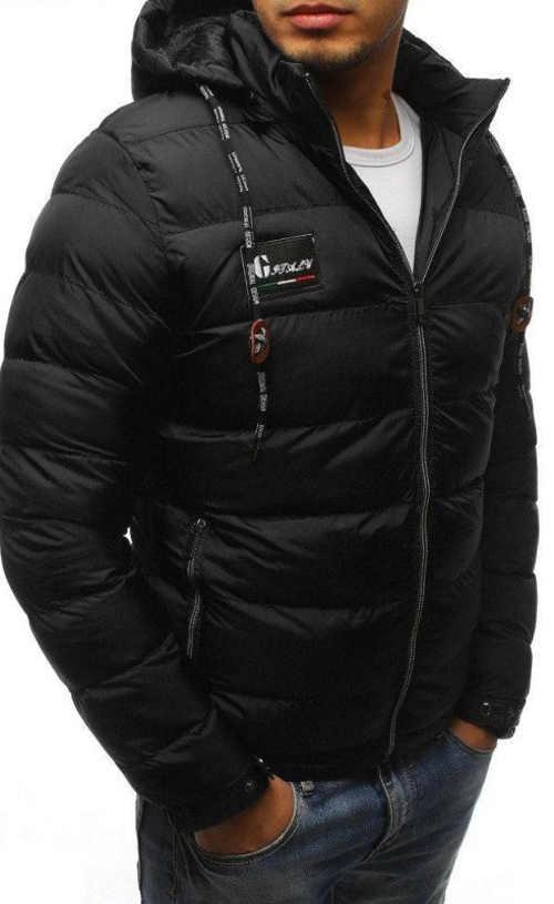 Černá sportovní zimní bunda pro muže
