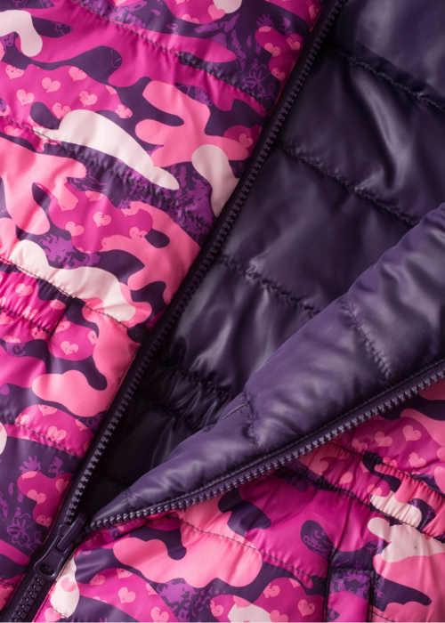Dívčí oboustranná prošívaná zimní bunda levně