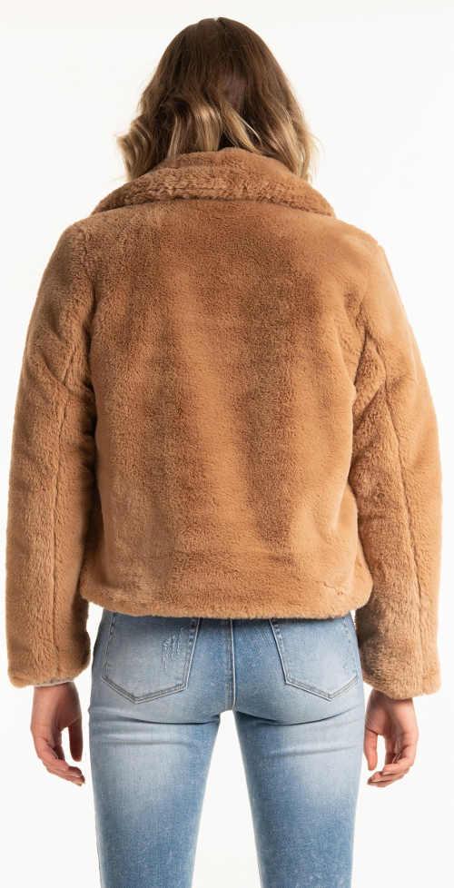 Kožešinové dámský zimní kabát do pasu