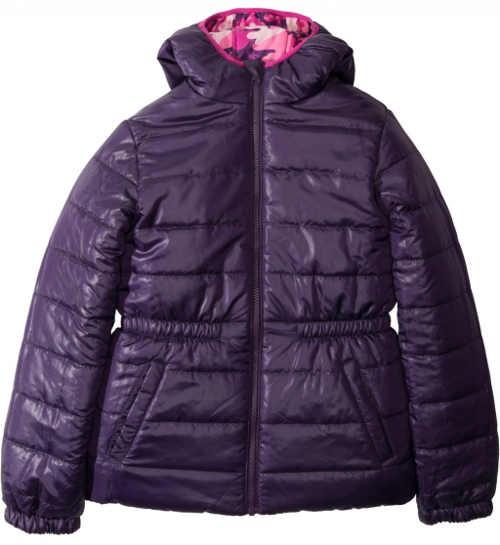 Tmavě fialová dětská zimní bunda