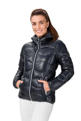Dámská bunda s praktickou kapucí a designovým prošitím