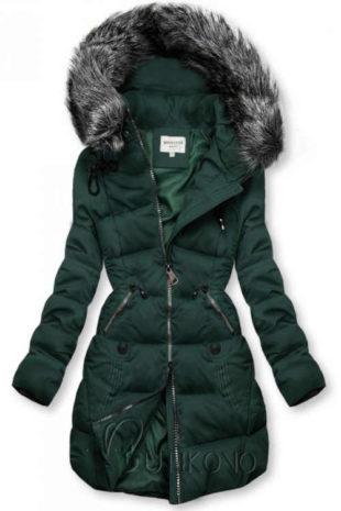 Dámská prošívaná bunda v prodloužené délce s kapucí
