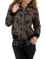 Moderní lehká dámská bunda v maskáčovém stylu
