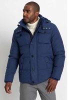 Zateplená pánská trendy bunda v modrém provedení