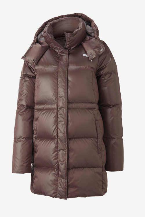 dámská bunda Puma v hnědé barvě