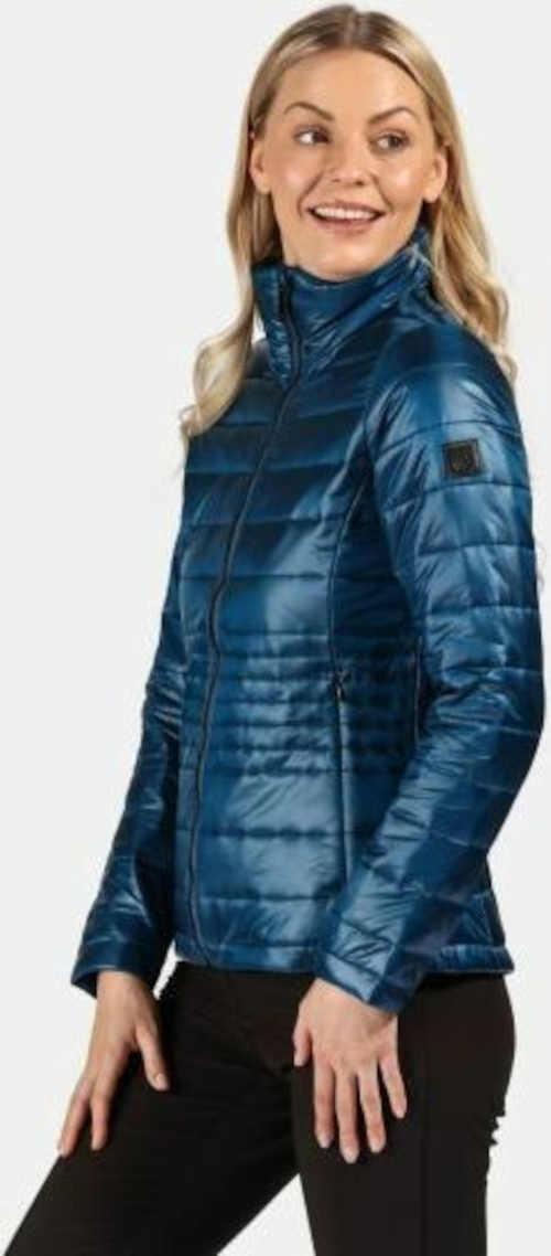 dámská bunda lehká v modré barvě