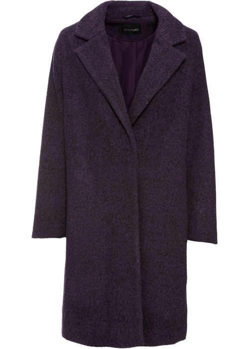 dámský kabát ve vlněném vzhledu