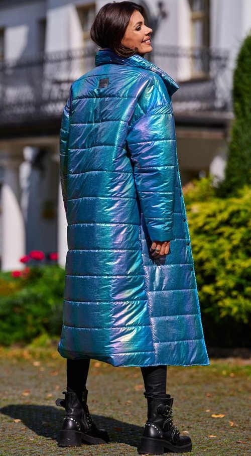 dlouhá dámská prošívaná bunda