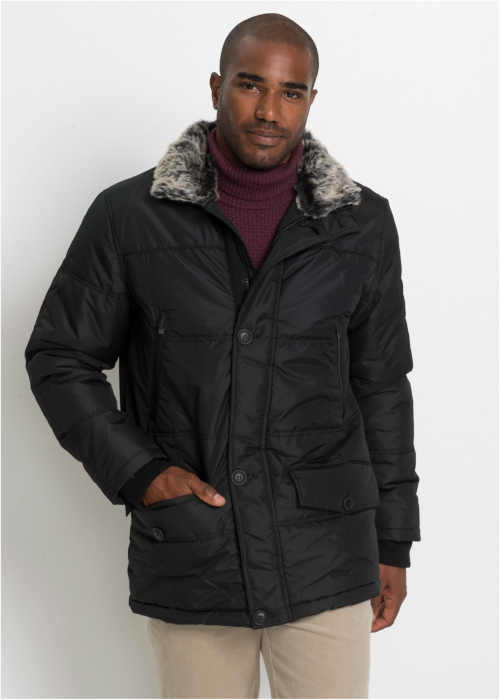moderní pánská černá bunda