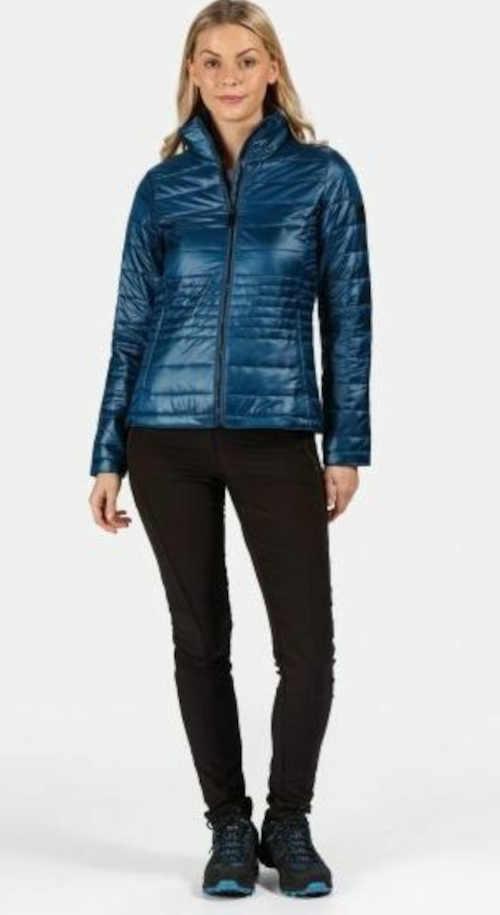 modrá dámská prošívaná bunda