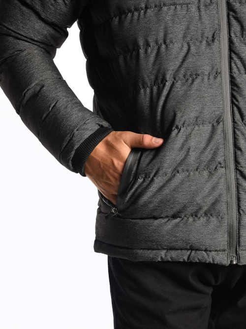 pánská šedá bunda s kapucí