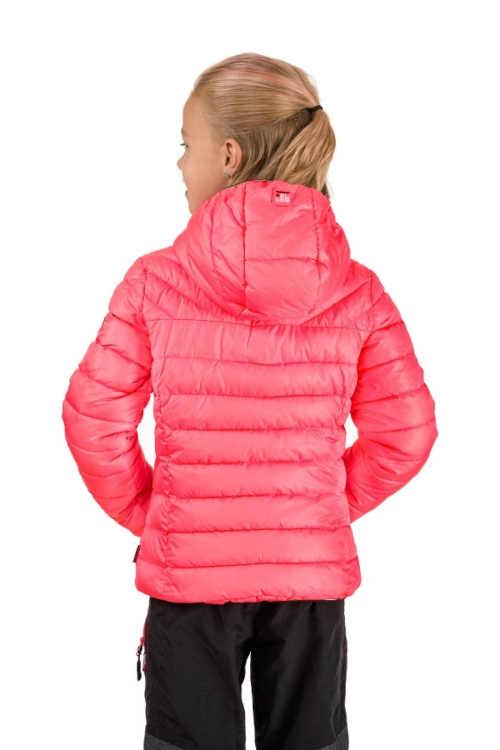 prošívaná dívčí bunda s kapucí