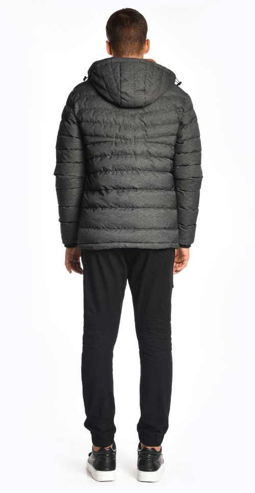 šedá pánská zimní bunda