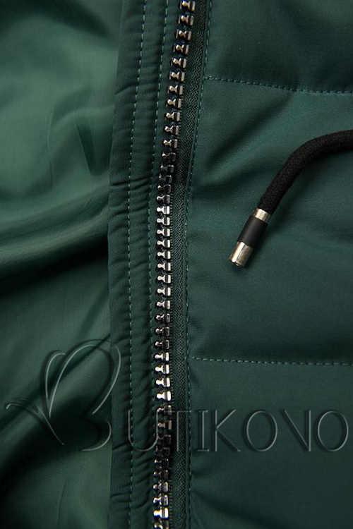 zelená dámská prošívaná bunda