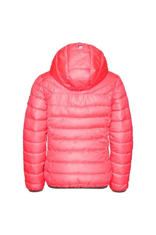 zimní bunda v růžovém provedení