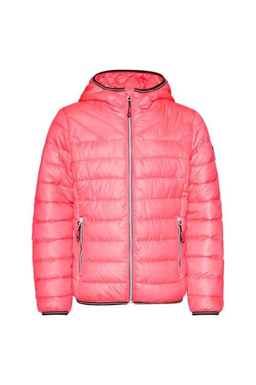 zimní prošívaná bunda s kapsami a kapucí