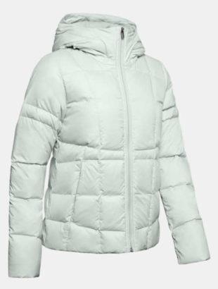 """Bílá zimní bunda """"péřovka"""" s kachním peřím"""