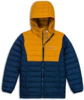 Chlapecká modro žlutá prošívaná zimní bunda Columbia