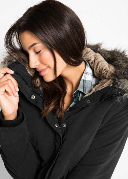 Dámská zimní bunda s  hebounkou podšívkou