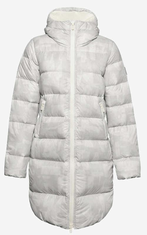Luxusní další bílá dámská zimní bunda