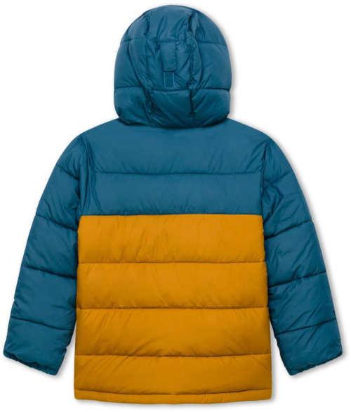Tyrkysovo-žlutá prošívaná chlapecká zimní bunda Colombia