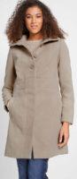 Zimní kabát pískové barvy imitace vlny