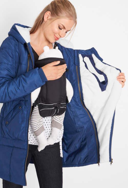 Dámská zimní bunda pro nošení miminek
