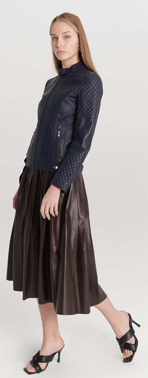Luxusní dámská bunda z pravé kůže