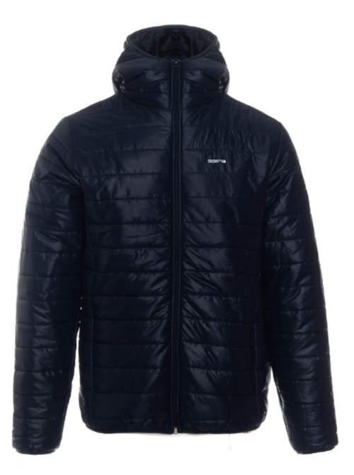 Tmavě modrá pánská prošívaná bunda výprodej