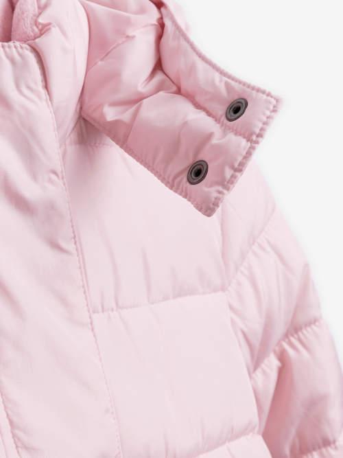 Dětská zimní bunda chránící krk