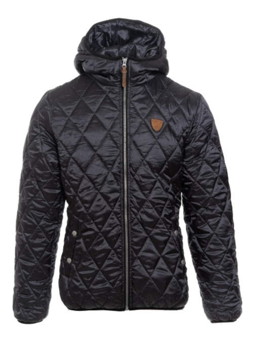 Jednobarevná černá pánská zimní bunda levně