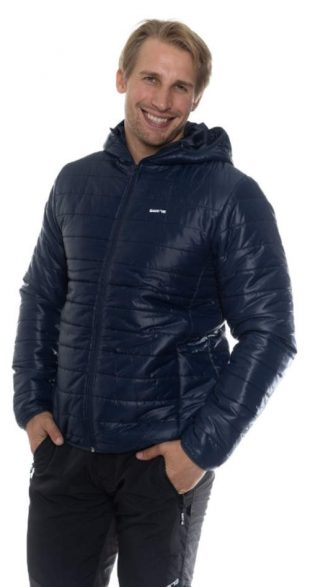 Levná tmavě modrá pánská zimní bunda Sam 73