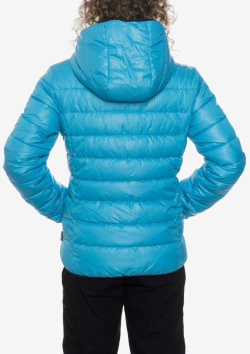 Světle modrá dětská zimní bunda s kapucí