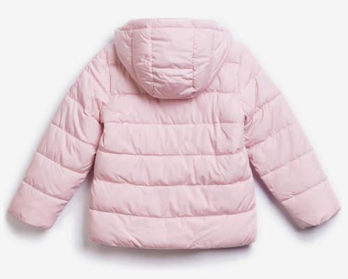 Světle růžová prošívaná zimní bunda pro dívky