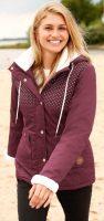 Zimní bunda bonprix s flísem na rukávech a límci