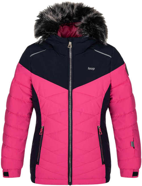 Dětská lyžařská bunda s kapucí a praktickými kapsami